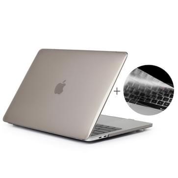 MacBook Pro 15.4 inch met Touchbar (A1707 - EU versie) 2 in 1 Kristal patroon beschermende Hardshell ENKAY Hat-Prince behuizing met ultra-dun TPU toetsenbord Cover (grijs)