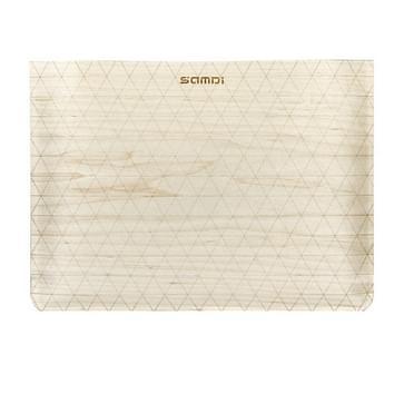 MacBook Air 13.3 inch Artistiek wit berken houtnerf patroon met zacht polar fleece beschermend materiaal SamDi Hoesje (bruin)