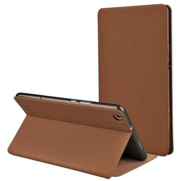 MOFI voor Huawei MediaPad M3 Lite 8.0 PU + siliconenhoes tarwe textuur horizontale Flip leren met Holder(Brown)