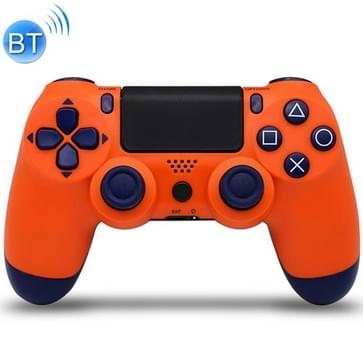 Draadloze Bluetooth-gamecontroller met lamp voor PS4  EU-versie(Oranje)