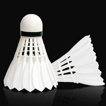 12 stuks originele Xiaomi Dooot d09 witte volledige cirkel Duck Feather badminton
