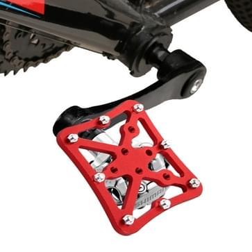 Enkele weg fiets Universal Clipless aan pedalen Platform Adapter voor fiets MTB  grootte: Small(Red)