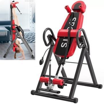 Multifunctionele huishoudelijke Vernekking omgekeerde kraan machine sportuitrusting (zwart rood)
