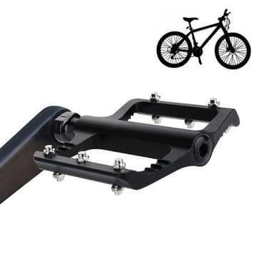 1 paar B065 aluminiumlegering Platform pedalen CNC staal as 9/16 inch voor fiets MTB BMX (zwart)