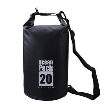 DZGOGO Portable outdoor waterdichte sport PVC schouderriem vat tas  capaciteit: 10L (zwart)