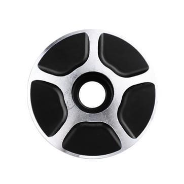 1 paar C17 fiets CNC aluminium fiets Headset Cap (zwart)