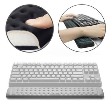 Mechanische toetsenbord polssteun Memory Foam muismat, grootte: m (grijs)