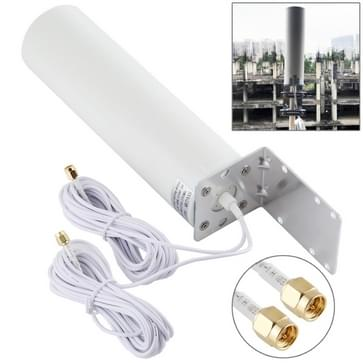 4G LTE WiFi 12DBi Omni Externe Barrel Antenne met SMA Male (Wit)