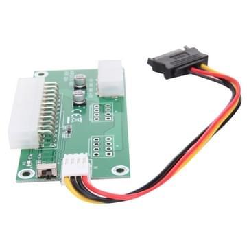 PC Desktop ATX 24-pin dubbele PSU Power kaart Adapter met SATA verlengkabel & handmatige schakelaar en synchroon starten, met uitgebreide Ded voor Bitcoin Mining