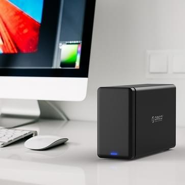 ORICO NS200-C3 externe Hard Drive Dock USB 3.1 Type-C voor twee 3.5 inch SATA 2.0 HDD / SSD harde schijven, ondersteunt UASP