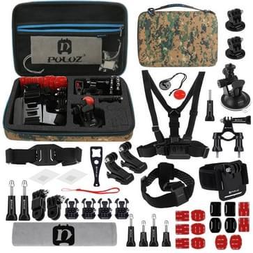 45 in 1 GoPro accessoire pakket met Camouflage EVA hoesje