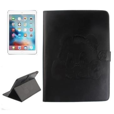 Voor iPad Pro 9.7 inch Embossed Panda patroon horizontaal Flip lederen hoesje met houder & opbergruimte voor pinpassen & portemonnee (zwart)