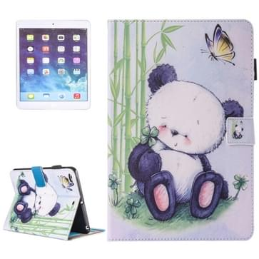 For iPad Air / iPad Air 2 Painting Panda Pattern Horizontal Flip Leather Case with Holder & Wallet & Card Slots & Pen Slot