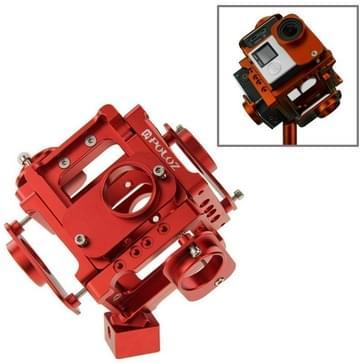 PULUZ 6 in 1 CNC Aluminum Alloy beschermende behuizing met schroeven voor GoPro HERO4 /3+(rood)