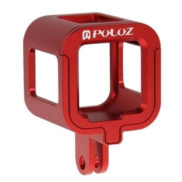 PULUZ CNC Aluminum Alloy beschermende behuizing met veiligheids frame voor GoPro HERO4 Session(rood)