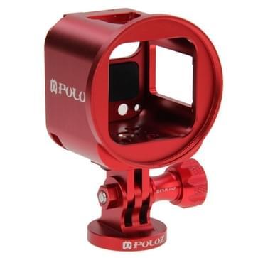 PULUZ Housing Shell CNC Aluminum Alloy beschermings Cage Kit met Metal Wrench & Lens Cap & schroeven & Tripod bevestiging voor GoPro HERO4 Session(rood)