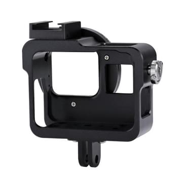 PULUZ Housing Shell CNC Aluminium Alloy beschermende behuizing Cage met 52mm UV Lens voor GoPro HERO5(zwart)