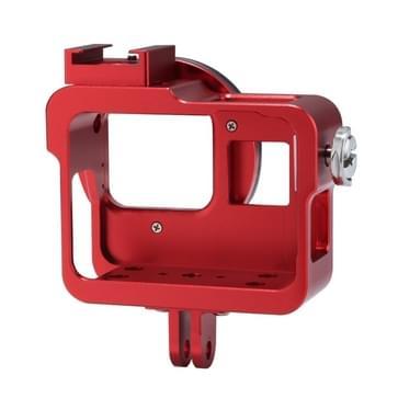 PULUZ Housing Shell CNC Aluminium Alloy beschermende behuizing Cage met 52mm UV Lens voor GoPro HERO5(rood)