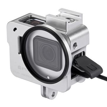 PULUZ Housing Shell CNC Aluminium Alloy beschermende behuizing Cage met 52mm UV Lens voor GoPro HERO5(zilver)