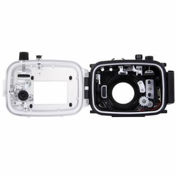 PULUZ 40m Underwater Depth Diving Case Waterproof Camera Housing for Canon G7 X Mark II(Black)