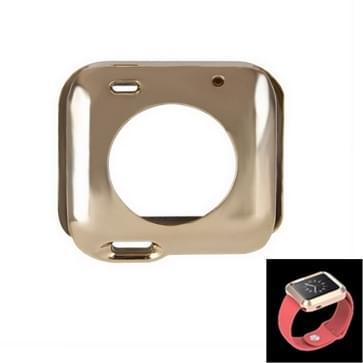 Plating TPU beschermings hoesje voor horloge 38mm(Goud)