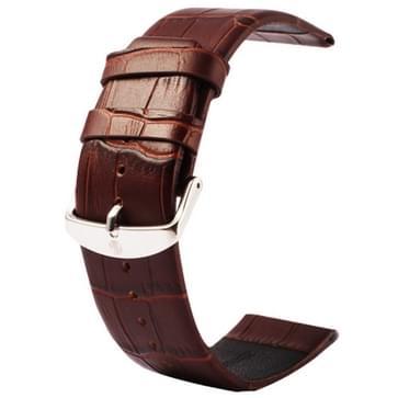 Kakapi krokodil structuur klassieke Buckle echt lederen horlogeband voor Watch 42mm (koffie kleur)