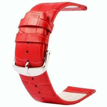 Kakapi krokodil structuur klassieke Buckle echt lederen horlogeband voor horloge 42mm(rood)