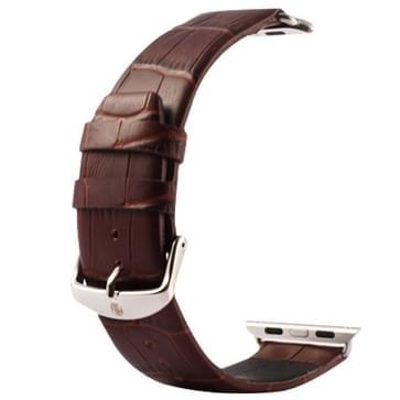 Kakapi krokodil structuur klassieke Buckle echt lederen horlogeband met Connector voor Watch 42mm (koffie kleur)