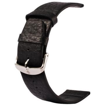 Kakapi Buffalo verbergen klassieke Buckle echt lederen horlogeband voor horloge 42mm(zwart)