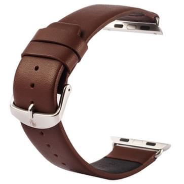 Kakapi subtiel structuur klassieke Buckle echt lederen horlogeband met Connector voor Watch 38mm (koffie kleur)