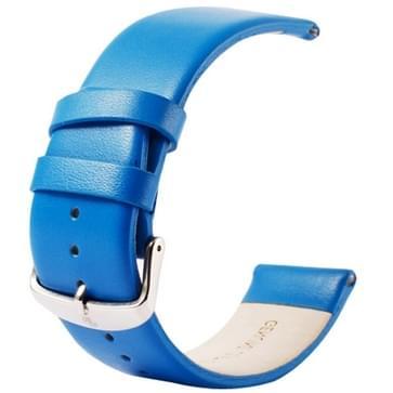 Kakapi subtiel structuur klassieke Buckle echt lederen horlogeband voor horloge 42mm(blauw)