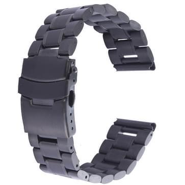 Zwart staal horlogeband voor horloge 42mm(zwart)