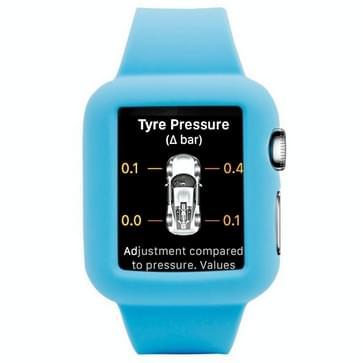 siliconen horlogeband Vervanging voor horloge 42mm(blauw)