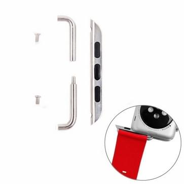 Connector van de metalen riem Metalx gesp voor Apple Watch 38mm, pair(zilver)