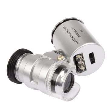 Speciale Microscoop 60 X valuta opsporen met LED Microscoop voor iPhone 5(zilver)