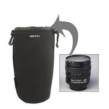 Neopreen slr cameralens draagtas met clip (afmeeting: 240x90mm)