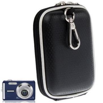 universeel mini digitale lederen cameratas, afmeeting: 120 x 80 x 35 mm (zwart)