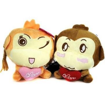 Paar Monkey knuffel spreker