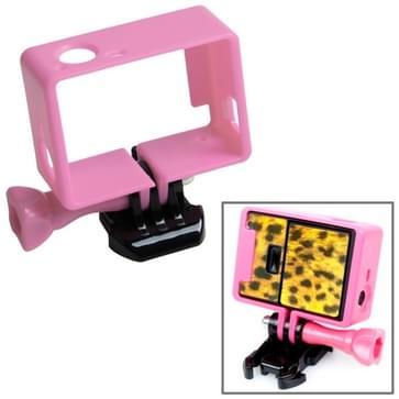 TMC Hoogwaardig statief Houder Frame / behuizing voor GoPro Hero 4 / 3 + 3 HF191 (roze)