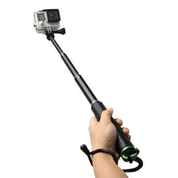 TMC handheld verlengbare Monopod / selfiestick met schroeven voor HERO 4/5 SESSION / (2018) 7 / 6 / 5 / 4 / 3+ / 3 / 2 / 1 / 2, Max. Lengte: 49cm (groen)