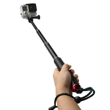 TMC handheld verlengbare Monopod / selfiestick met schroeven voor HERO 4/5 SESSION / (2018) 7 / 6 / 5 / 4 / 3+ / 3 / 2 / 1 / 2, Max. Lengte: 49cm (rood)
