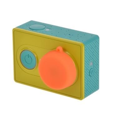 Siliconen Lensdop voor Xiaomi Yi / HERO 4/5 SESSION / (2018) 7 / 6 / 5 / 4 / 3+ / 3 / 2 / 1 (Oranje)