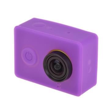 Siliconen Gel beschermings hoes / case voor Xiaomi Yi Sport Camera (paars)