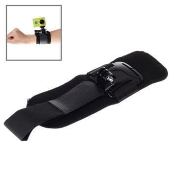 360 Graden draaiend Arm Riem / Polsriempje waterdetectie + Houder voor Xiaomi Yi Sport Camera