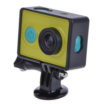 Standaard beschermings Frame / behuizing gehaald Diverse Bevestigingsmiddelen voor Xiaomi Yi Sport Camera (zwart)