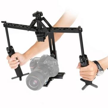 Dual Gimbal Handgrips Handheld Mechanical Stabilizer for DSLR Camera / Video Camera