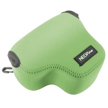 NEOpine Neoprene Shockproof Soft Case Bag with Hook for Canon PowerShot G3X Camera(Green)
