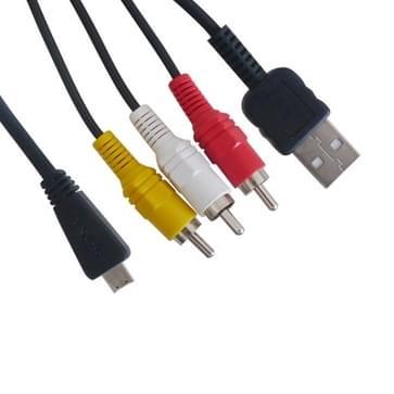 digitale camera 2 in 1 (usb + av) kabel voor sony md3 / w390 / t99 / wx5