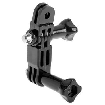 ST-15 Drie manieren verstelbare draaiarm voor GoPro HERO (2018) 7 / 6 / 5 / 4 / 3+ / 3 / 2 / 1 (zwart)