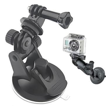 ST-51 Mini Zuignap Statief Adapter voor auto + 7CM Diameter Voet voor GoPro HERO (2018) 7 / 6 / 5 / 4 / 3+ / 3 / 2 / 1 (zwart)